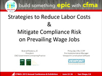Strategies to Reduce Labor Cost & Mitigate Compliance Risk on Prevailing Wage Jobs