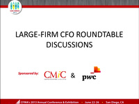 Dawn Peer Group: Large-Firm CFO Roundtable Discussions