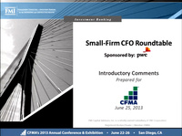 Dawn Peer Group: Small-Firm CFO Roundtable Discussions