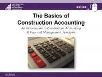 The Basics of Construction Accounting - Day 1
