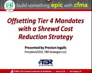 Offsetting Tier 4 Mandates with a Shrewd Cost Reduction Strategy