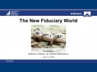 The New Fiduciary World