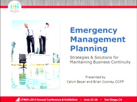 Mini Conference V: Emergency Management Planning - Strategies & Solutions for Maintaining Business Continuity