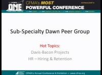 Sub-Specialty: Hot Topics for Subcontractors