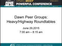 Dawn Peer Groups: Heavy/Highway Roundtables