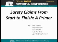 Surety Claims from Start to Finish