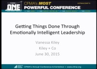 Getting Things Done through Emotionally Intelligent Leadership