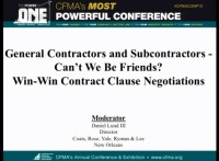 GCs & Subcontractors: Can't We Be Friends? Part II: Win-Win Contract Clause Negotiations