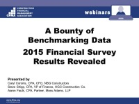 A Bounty of Benchmarking Data - 2015 Financial Survey Results Revealed