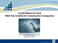 Credit Where It's Due: R&D Tax Credits for Construction Companies