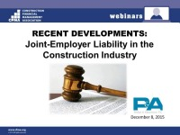 """The NLRB's new """"Joint-Employer"""" Ruling and its Impact on the Construction Industry"""