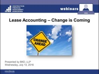 Lease Accounting - Change is Coming