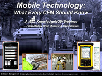 Mobile Technology: What Every CFM Should Know