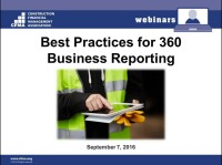 Best Practices for 360 Business Reporting