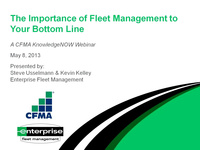 The Importance of Fleet Management to Your Bottom Line
