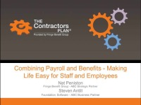 Combining Payroll and Benefits - Making Life Easy for Staff and Employees