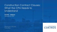 Construction Contract Clauses the CPA needs to Understand