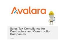 Sales Tax Concerns for Contractors and Construction Companies