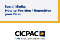 Social Media: How to Reposition your Firm