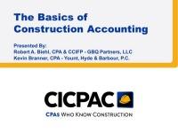The Basics of Construction Accounting