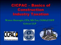 Basics of Construction Taxation
