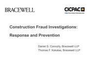 Construction Fraud Investigations:  Response and Prevention