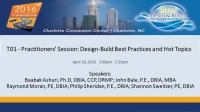 Practitioners' Session: Design-Build Best Practices and Hot Topics