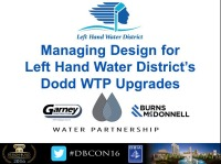Managing Design for Left Hand Water District's Dodd WTP Upgrade