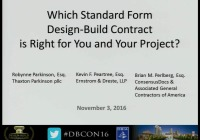 Which Standard Form Design-Build Contract is Right for You and Your Project?