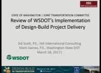 Review of DOT Implementation of Design-Build Delivery
