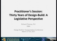 Practitioner's Session: Thirty Years of Design-Build: A Legislative Perspective