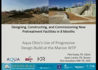 Aqua Ohio's First Design-Build: Lessons Learned in Commissioning New Pretreatment Facilities