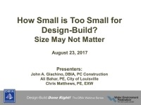 How Small is Too Small for Design-Build?