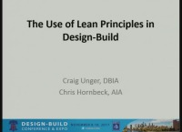 The Use of Lean Principles in Design-Build (in Partnership with LCI)