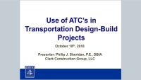 Use of ATC's in Transportation Design-Build Projects