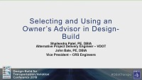 Owners/Reps: Selecting and Using Owner Consultants