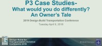 """P3 Case Studies - What Would You Do Differently? - An Owner's Tale"""