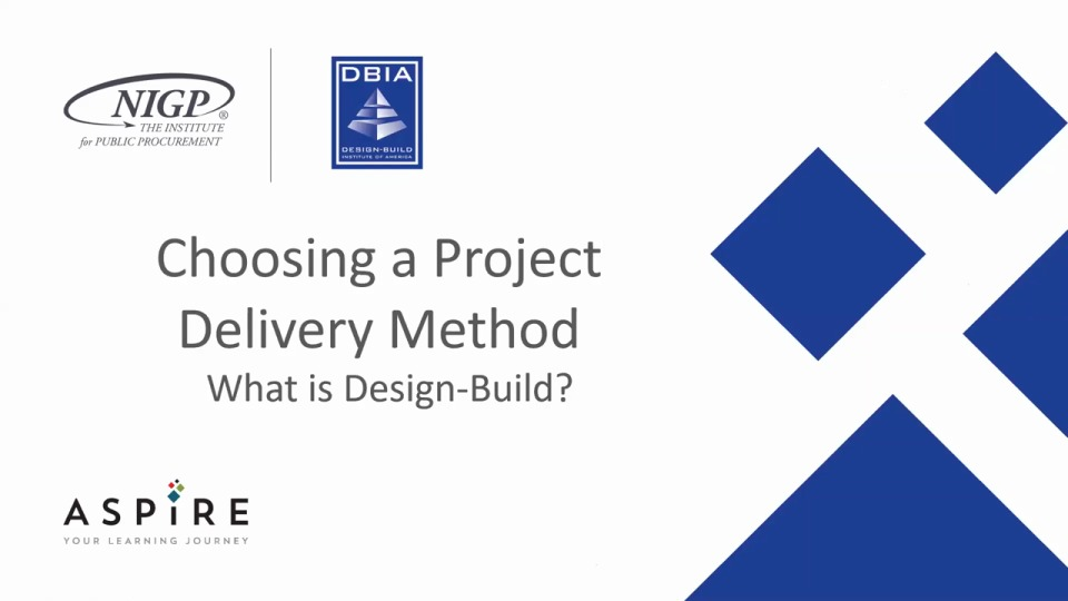 Choosing a Project Delivery Method: What is Design-Build?