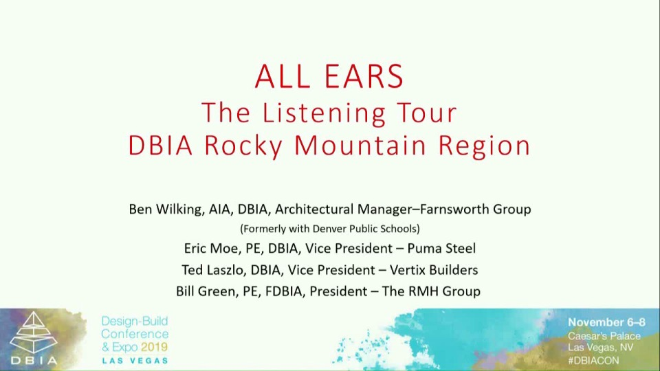 ALL EARS – The Listening Tour: Rocky Mountain Region