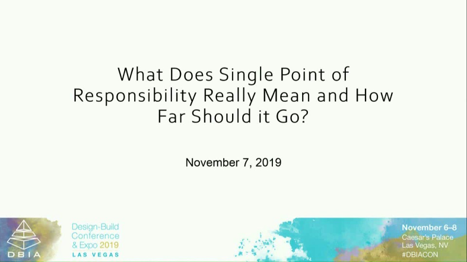 What Does Single Point of Responsibility Really Mean and How Far Should it Go?