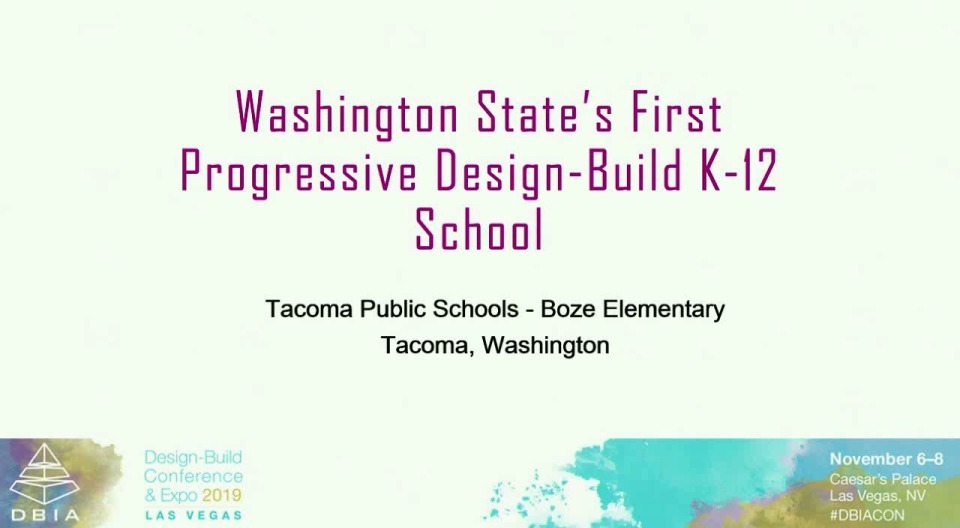 Lessons Learned from Washington State's First Progressive Design-Build Public School Project