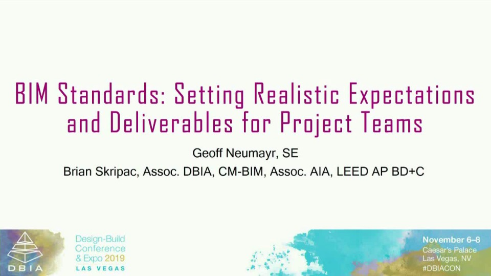 BIM Standards: Setting Realistic Expectations and Deliverables for Project Teams