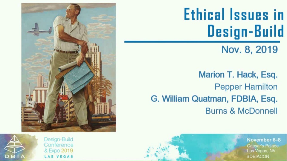 Ethical Issues in Design-Build