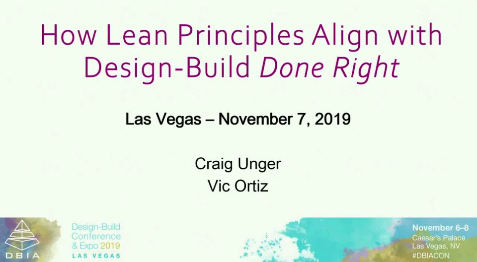 How Lean Principles Align with Design-Build Done Right®