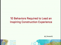 10 Behaviors Required to Lead an Inspiring Design Build Experience
