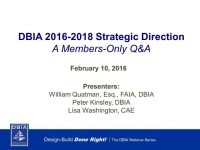 The Path Forward for DBIA: A Member-Only Q&A on our Strategic Direction