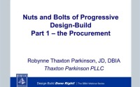Nuts and Bolts of Progressive Design-Build Part 1 – The Procurement
