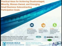 Practical Ideas for Achieving Disadvantaged, Minorities, Women-Owners and Emerging Subcontracting Participation Goals