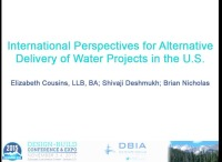 International Perspectives for Alternative Delivery of Water Projects in the U.S.