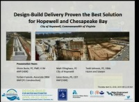 Design-Build Delivery Proven the Best Solution for Hopewell and Chesapeake Bay